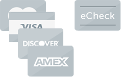 PaySimple supports all major credit and debit cards so you can accept payments and echecks with one integration