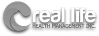 Real life health management logo