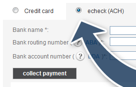 An echeck allows customers to pay by check without the hassle of paper