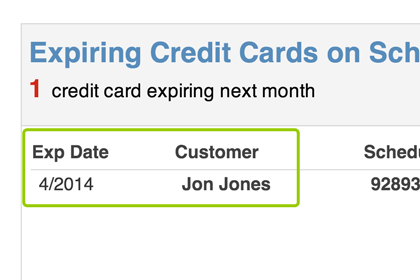Be proactive with expiring credit card notifications