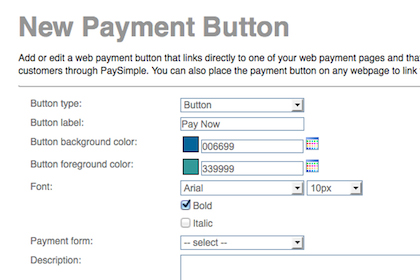 Customize your payment buttons and place them in emails, newsletters, or on your website.