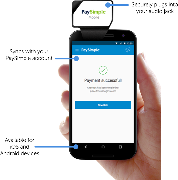 Order your PaySimple mobile credit card reader