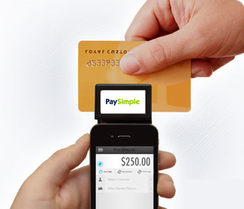 Swipe a credit card in the mobile card reader