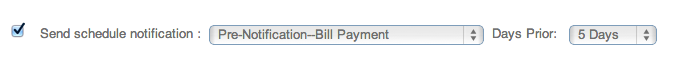 PaySimple Pre-notification Bill Payment