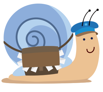 snail carrying mail