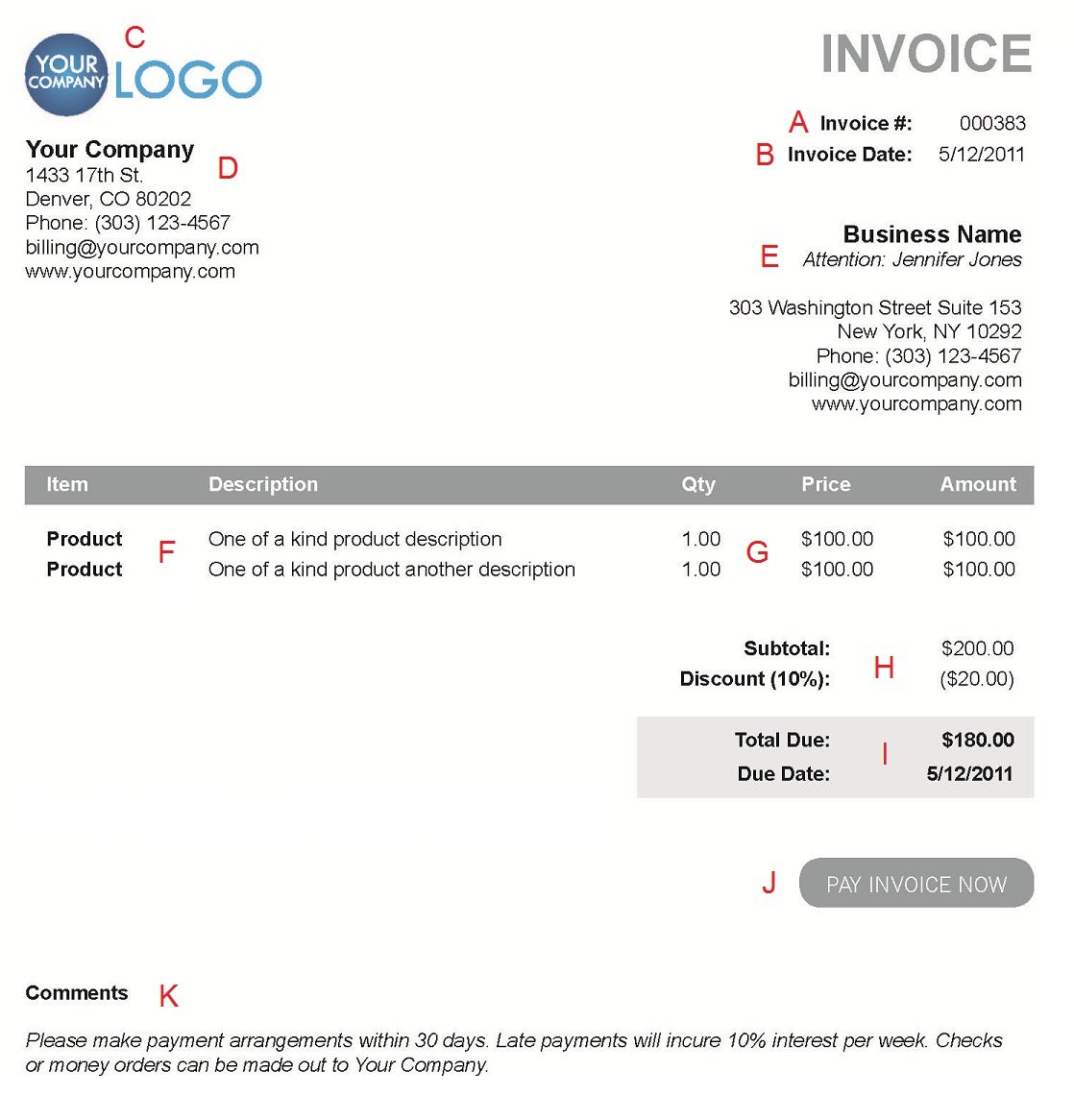 Bringjacobolivierhomeus  Marvellous The  Different Sections Of An Electronic Payment Invoice With Excellent A  With Cute Invoice Types Also Pay Invoice Online In Addition Printable Commercial Invoice And Makeup Artist Invoice Template As Well As What Invoice Means Additionally Ms Word Custom Invoice Template From Paysimplecom With Bringjacobolivierhomeus  Excellent The  Different Sections Of An Electronic Payment Invoice With Cute A  And Marvellous Invoice Types Also Pay Invoice Online In Addition Printable Commercial Invoice From Paysimplecom