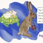 Small Business Cartoon: Payments Slower than a Tortoise Delivery Service