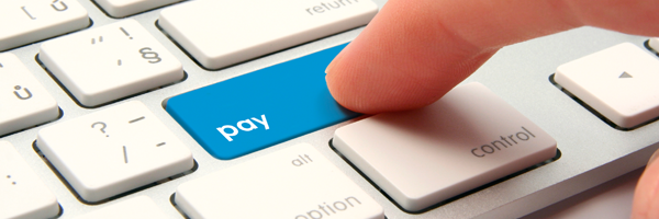 pay online image of keyboard