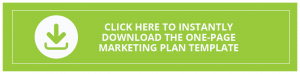 One-Page Marketing Plan Template