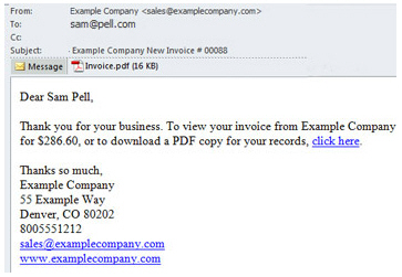 Sample Invoice Email